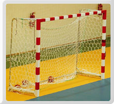 Handball Goal Post Front Bars are made of high quality 8 cm X 8 cm Wooden / Steel / Aluminum Rods